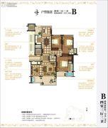 外滩一号4室3厅3卫230平方米户型图