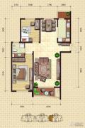 金梦海湾1号2室2厅1卫117平方米户型图