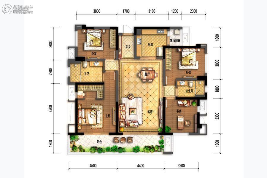 B3-138㎡-四室两厅两卫