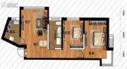 鹏博金城珑园2室2厅1卫78平方米户型图