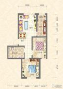 中天富城2室2厅1卫0平方米户型图