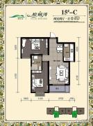 棕榈湾2室2厅1卫87平方米户型图
