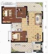 豪美・湖景湾3室2厅1卫90--100平方米户型图