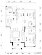 亿豪名园3室2厅2卫126平方米户型图