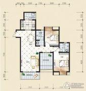 观音南部兴城2室2厅2卫104平方米户型图