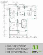 苹果乐园3室2厅1卫107平方米户型图