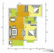 华普城2室2厅1卫91平方米户型图