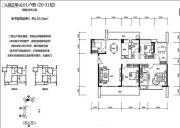 绿海湾花园5室2厅2卫159平方米户型图