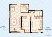 绿洲白马公馆2室2厅1卫93平方米户型图