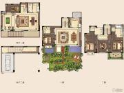 新城璞樾和山4室2厅3卫274平方米户型图