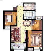 丽景湾华庭3室2厅1卫93平方米户型图