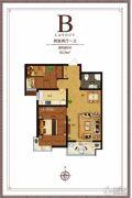 尚东金汇2室2厅1卫82平方米户型图