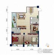 浏卉新城3室2厅1卫112平方米户型图