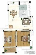 水岸帝景 多层2室2厅1卫82平方米户型图
