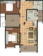 阳光福园3室2厅1卫100平方米户型图