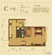 新大院1室1厅1卫56平方米户型图