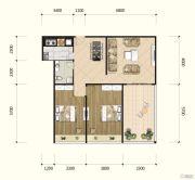 耘进・钟山国际城2室2厅1卫116平方米户型图