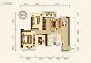 万昌东方巴黎2室2厅1卫97--98平方米户型图