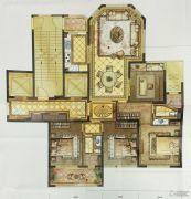 尚品半岛4室2厅2卫143平方米户型图