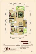 联发・君澜天地3室2厅2卫101平方米户型图