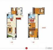 东方新天地3室2厅2卫0平方米户型图