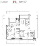 都丽华府3室2厅2卫147平方米户型图
