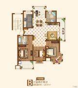 竟达风渡3室2厅2卫126平方米户型图