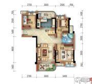 宜昌碧桂园3室2厅1卫89平方米户型图