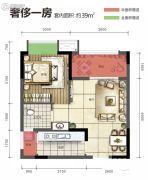 旭阳台北城1室0厅1卫0平方米户型图