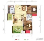世茂茂悦府2室2厅1卫67平方米户型图