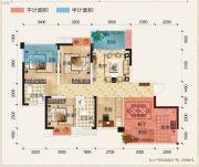 置地城二期・天玺4室2厅2卫98--100平方米户型图