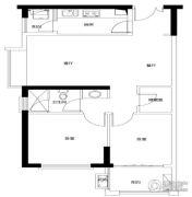 招商・卡达凯斯2室2厅1卫0平方米户型图