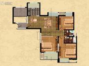 观山名筑3室2厅2卫127平方米户型图