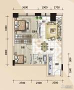 779财富中心2室2厅1卫70平方米户型图