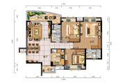 时代御京新城3室2厅2卫123平方米户型图