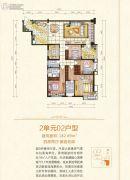 泉福豪亭4室2厅3卫182平方米户型图