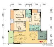 玉柴第壹城3室2厅2卫116平方米户型图