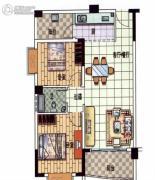 星悦蓝湾2室1厅1卫85平方米户型图
