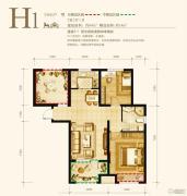 永定河孔雀城英国宫2室2厅1卫84平方米户型图