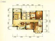 昆明・恒大名都4室2厅2卫150平方米户型图