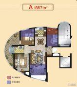 正丰・银座3室2厅1卫87平方米户型图
