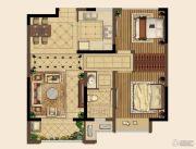 中海国际社区2室2厅1卫80平方米户型图