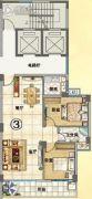 润晖新城2室2厅1卫92平方米户型图