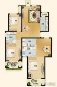 世嘉光织谷2室2厅2卫140平方米户型图