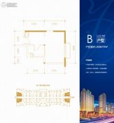 恒大财富广场1室1厅1卫34平方米户型图