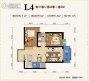 俊发盛唐城2室2厅1卫87--92平方米户型图