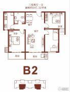 荣联天下城3室2厅1卫107平方米户型图