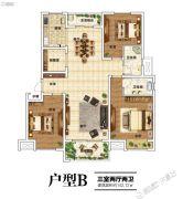 建业北海森林半岛3室2厅2卫142平方米户型图