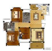 绿城百合新城3室2厅2卫120平方米户型图