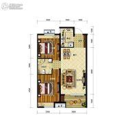 金地艺境2室2厅1卫90平方米户型图